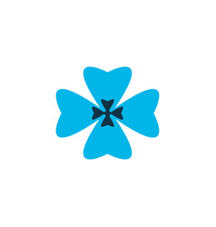 Clover icon colored symbol premium quality vector