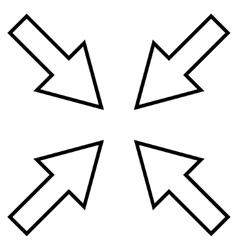Compact Arrows Contour Icon vector
