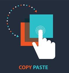 Copy paste icon vector