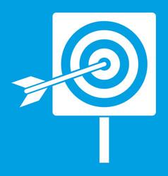 Darts icon white vector