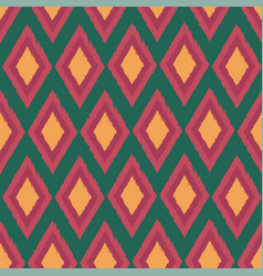 diamond ikat seamless repeat pattern design vector image