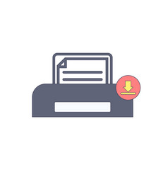 document download paper print printer icon vector image