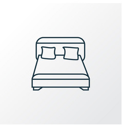 double bed icon line symbol premium quality vector image