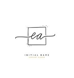 E a ea beauty initial logo handwriting logo vector
