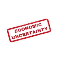 Economic Uncertainty Rubber Stamp vector image