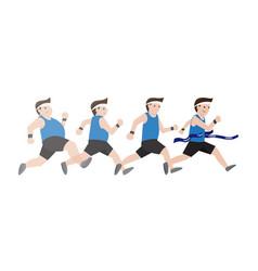 fat man running vector image