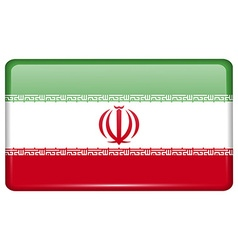 Flags Iran in the form of a magnet on refrigerator vector image vector image