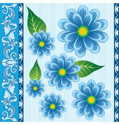 floral ornament for textiles vector image