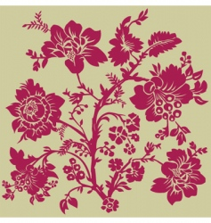 Floral rose pattern vector