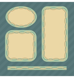 Frame set in retro colors vector image