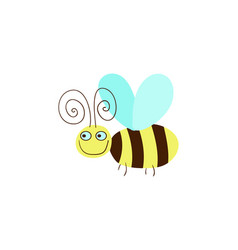 Funny honeybee cartoon vector