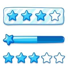 Game ice menu star progress bar vector