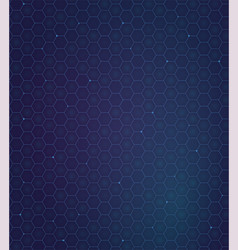 gelaxy hexagon backdround futuristic pattern vector image