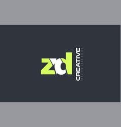 Green letter zd z d combination logo icon company vector