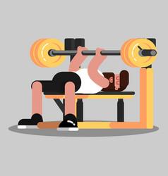 Guy makes bench press vector