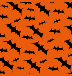 halloween card with bats flying pattern vector image