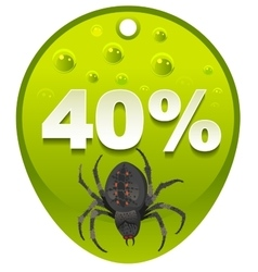 Halloween discount coupon 40 percent Halloween vector image vector image