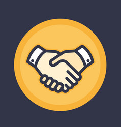 Handshake icon deal partnership shaking hands vector