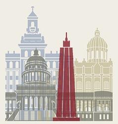 Havana skyline poster vector