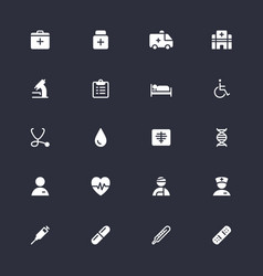 healthcare simple icons vector image