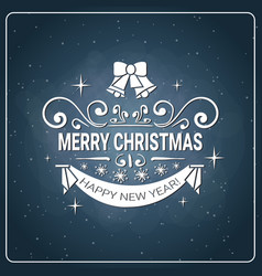 holiday chalk poster merry christmas and happy new vector image