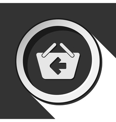 Icon - shopping basket back with shadow vector