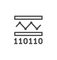 Information transfer line outline icon vector