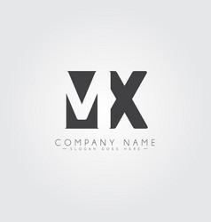 initial letter mx logo - minimal business logo vector image