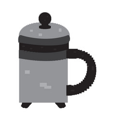 isolated pixelated teapot vector image