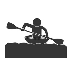 kayak extreme sport vector image