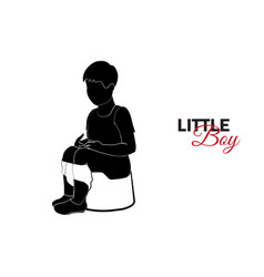little child baby a little boy is sitting vector image