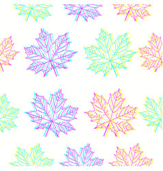 maple leaves pattern in cmyk colors vector image