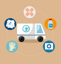 medical service set icons vector image