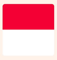 Monaco square flag button social media vector