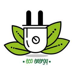 natural green eco energy design vector image