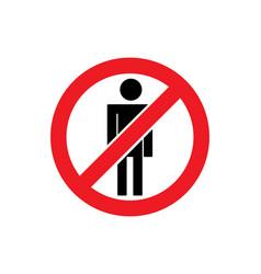 no people sign icon vector image