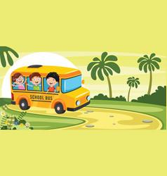 of school children vector image