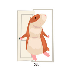 out english language preposition place and cute vector image