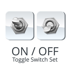 Panel toggle switch set vector