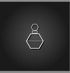 perfume bottle icon flat vector image