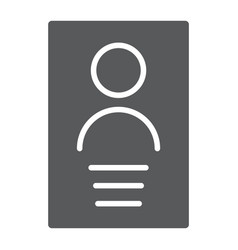 Personal data glyph icon file and information vector