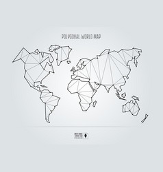 Polygonal abstract world map vector image