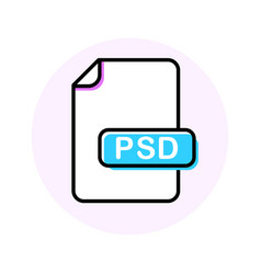 psd file format extension color line icon vector image