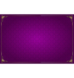 Purple chinese background and gold decoration vector