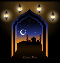 Ramadan night vector