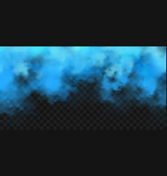 Realistic blue colorful smoke clouds mist effect vector