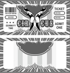 retro circus ticket vector image vector image