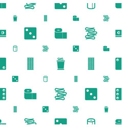 Roll icons pattern seamless white background vector