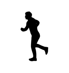 running man icon vector image