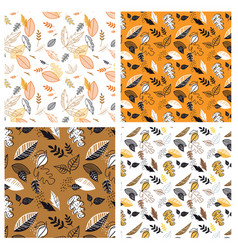 seamless pattern with acorns and autumn leaves in vector image